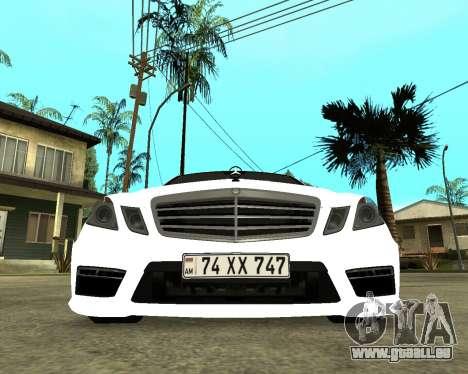 Mercedes-Benz E250 Armenian pour GTA San Andreas laissé vue