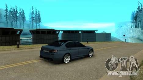 BMW M5 F10 pour GTA San Andreas vue de droite