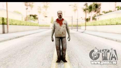 Left 4 Dead 2 - Zombie T-Shirt pour GTA San Andreas deuxième écran