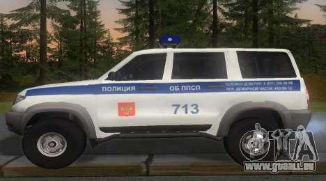 UAZ Patriot de la Police v1 pour GTA San Andreas laissé vue