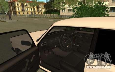 2107 pour GTA San Andreas vue arrière