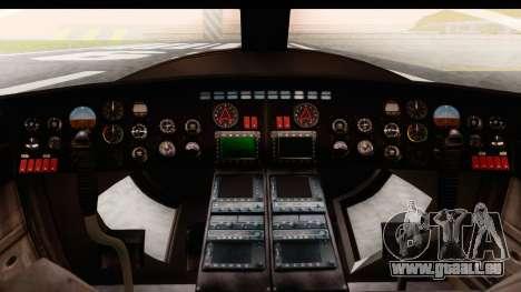 GTA 5 Buckingham Valkyrie für GTA San Andreas Rückansicht