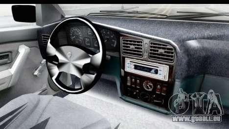 Renault 19 RE für GTA San Andreas Innenansicht