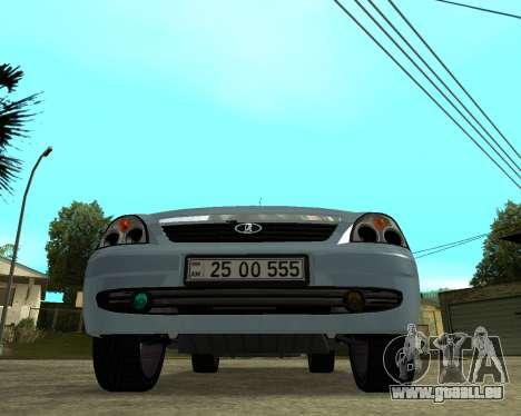 Lada Priora Arménie pour GTA San Andreas vue arrière