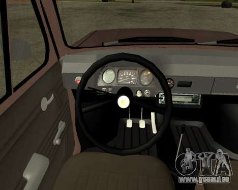 ZAZ 968M Arménie pour GTA San Andreas vue de côté