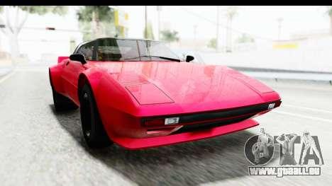 GTA 5 Lampadati Tropos IVF pour GTA San Andreas sur la vue arrière gauche
