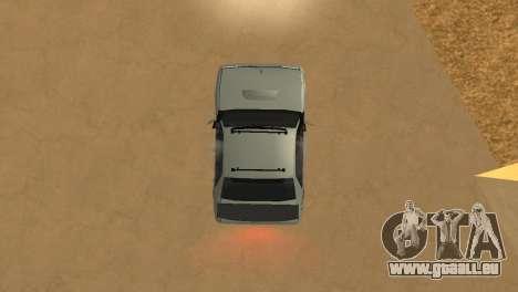 Super Sultan pour GTA San Andreas vue arrière