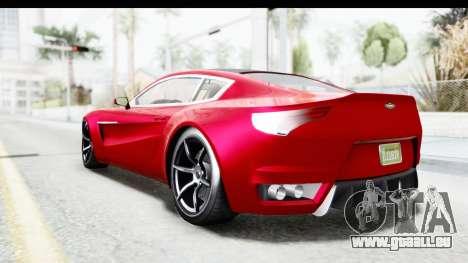 GTA 5 Dewbauchee Seven 70 IVF pour GTA San Andreas laissé vue