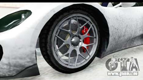 GTA 5 Pfister 811 SA Lights pour GTA San Andreas vue arrière