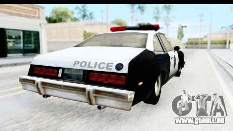 Pontiac Ventura LSPD from Silent Hill 2 pour GTA San Andreas laissé vue