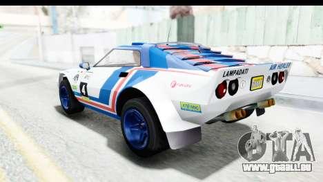 GTA 5 Lampadati Tropos Rallye No Headlights IVF pour GTA San Andreas vue de dessus