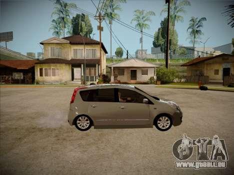 Nissan Note 2008 pour GTA San Andreas vue arrière