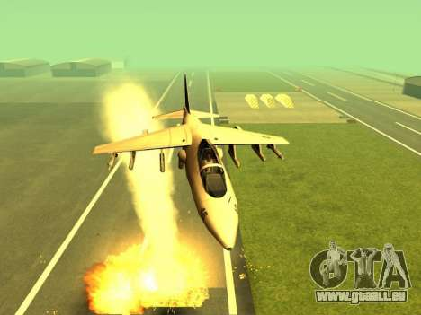 L'ajout d'armes à la technique de l'air pour GTA San Andreas deuxième écran