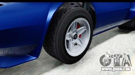 GTA 5 Lampadati Tropos Rallye No Headlights IVF für GTA San Andreas Rückansicht