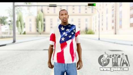 T-Shirt USA Flag pour GTA San Andreas deuxième écran