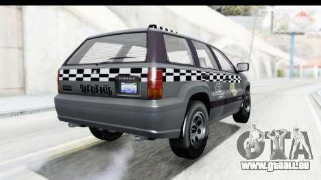 GTA 5 Canis Seminole Taxi pour GTA San Andreas sur la vue arrière gauche
