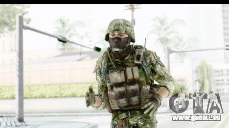 Croatian Soldier pour GTA San Andreas