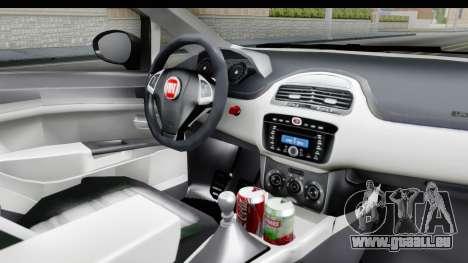 Fiat Linea 2015 v2 Wheels für GTA San Andreas Innenansicht
