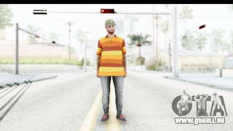 Skin Male Random 3 GTA Online pour GTA San Andreas deuxième écran