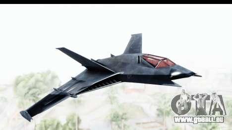 Batman Arkham Origins - Batwing für GTA San Andreas zurück linke Ansicht