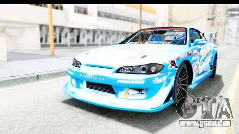 Nissan Silvia S15 D1GP Blue Toyo Tires für GTA San Andreas