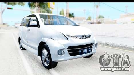 Toyota Avanza Veloz 2012 v1.1 für GTA San Andreas rechten Ansicht