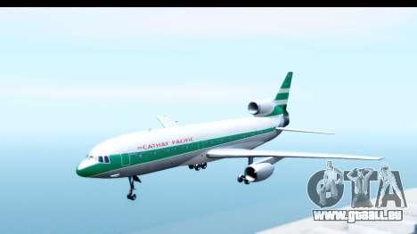Lockheed L-1011-100 TriStar Cathay Pacific Air pour GTA San Andreas sur la vue arrière gauche