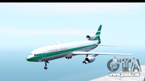 Lockheed L-1011-100 TriStar Cathay Pacific Air für GTA San Andreas zurück linke Ansicht