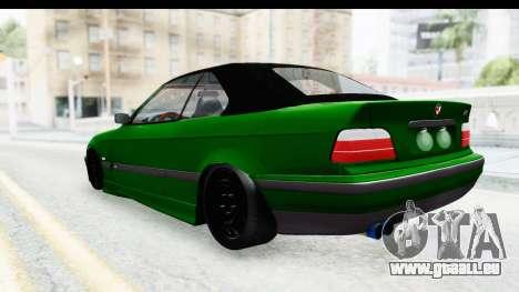 BMW M3 E36 Sloboz Edition pour GTA San Andreas sur la vue arrière gauche