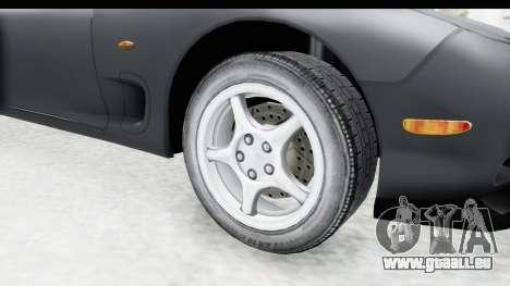 Mazda RX-7 4-doors Fastback für GTA San Andreas Rückansicht