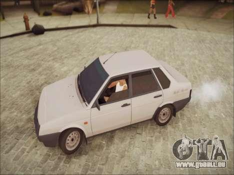 VAZ 21099 LT pour GTA San Andreas sur la vue arrière gauche