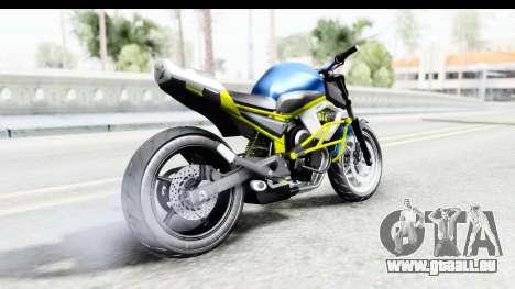 Yamaha Cage Sic pour GTA San Andreas laissé vue