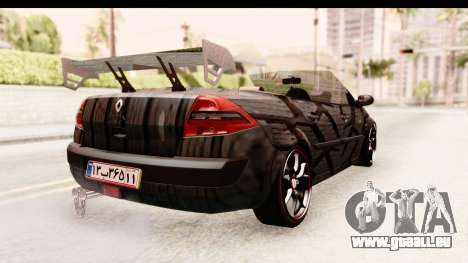 Renault Megane Spyder Full Tuning v2 pour GTA San Andreas vue de droite