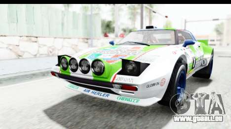 GTA 5 Lampadati Tropos Rallye No Headlights IVF pour GTA San Andreas vue de dessous