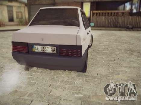 VAZ 21099 LT pour GTA San Andreas vue arrière