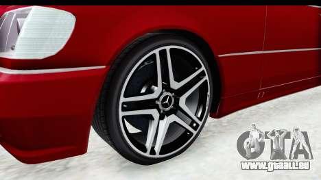 Mercedes-Benz W140 S600 AMG für GTA San Andreas Rückansicht