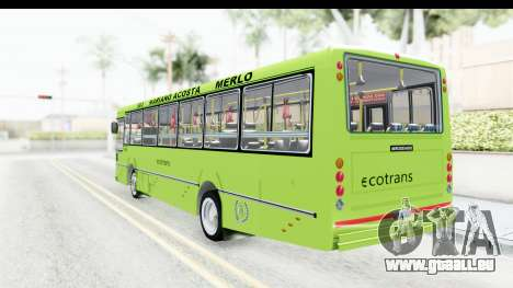 Bus La Favorita Ecotrans für GTA San Andreas rechten Ansicht