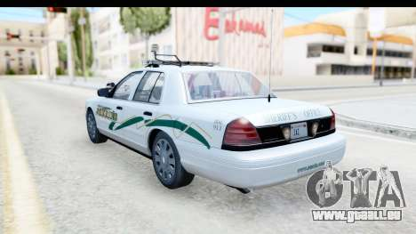 Ford Crown Victoria 2009 Southern Justice für GTA San Andreas linke Ansicht