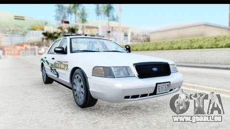 Ford Crown Victoria 2009 Southern Justice pour GTA San Andreas vue de droite