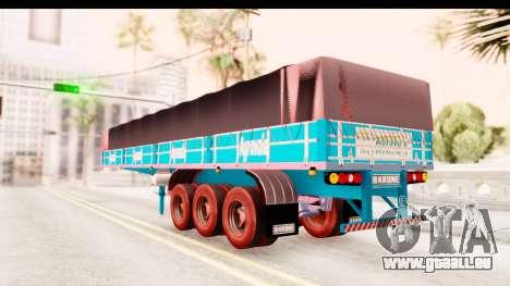 Trailer Brasil v4 pour GTA San Andreas sur la vue arrière gauche