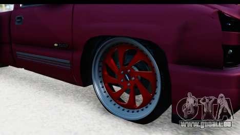 Chevrolet Silverado 2005 Low pour GTA San Andreas vue arrière