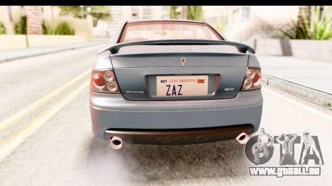 Pontiac GTO 2006 für GTA San Andreas Unteransicht