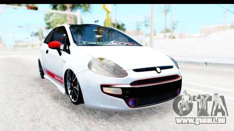 Fiat Punto Abarth pour GTA San Andreas laissé vue