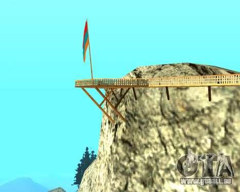 Armenian Flag On Mount Chiliad V-2.0 für GTA San Andreas dritten Screenshot
