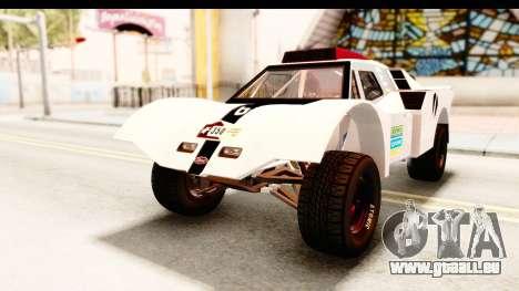 GTA 5 Desert Raid SA Lights PJ pour GTA San Andreas vue de dessous