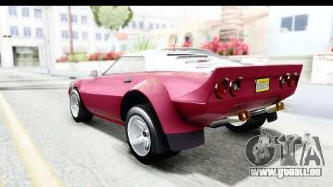 GTA 5 Lampadati Tropos Rallye No Headlights pour GTA San Andreas laissé vue