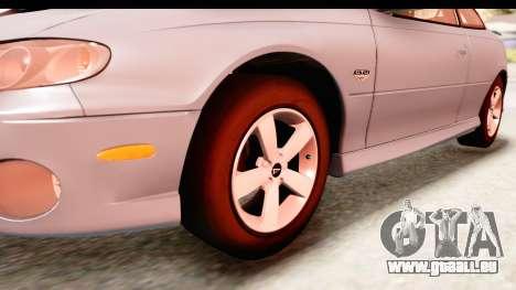 Pontiac GTO 2006 für GTA San Andreas Rückansicht