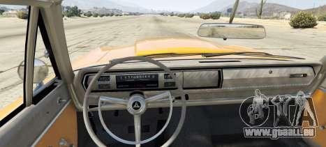 GTA 5 Dodge Coronet 440 1967 arrière vue latérale gauche