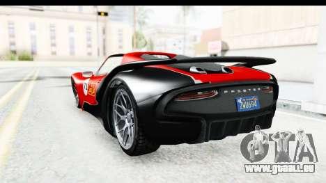 GTA 5 Pfister 811 SA Lights pour GTA San Andreas vue de dessus