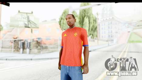 Spain Home Kit 2016 für GTA San Andreas zweiten Screenshot
